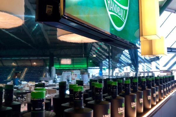 Long Horn Gin in der VIP Lounge des SC DHfK Leipzig